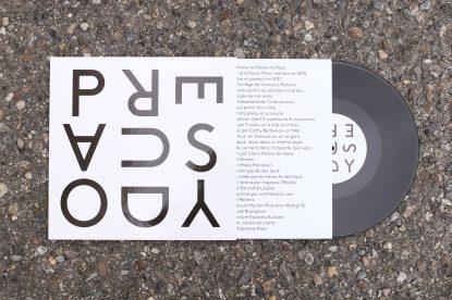 @ Vincent Kohler Fabienne Radi PREAUSODY, vinyle