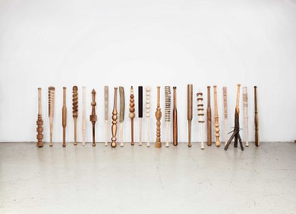 @ Vincent Kohler Turnaround, baseball bat, wood